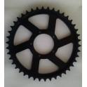 Corona 42 denti 42T CNC per Bafang centrale BBS01 e BBS02 City Bike con copricatena autoportante